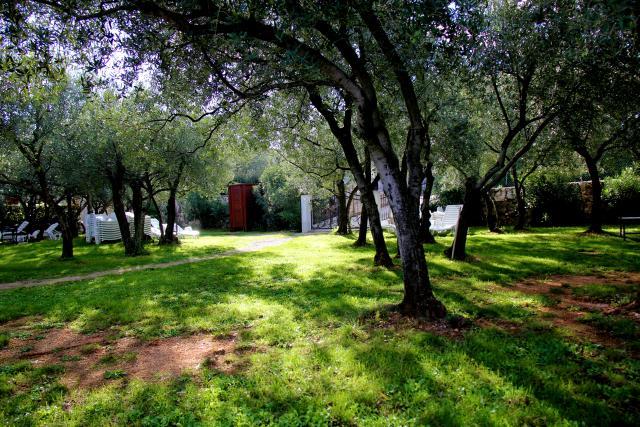 Mali travnati park pored hotela Vila Rova