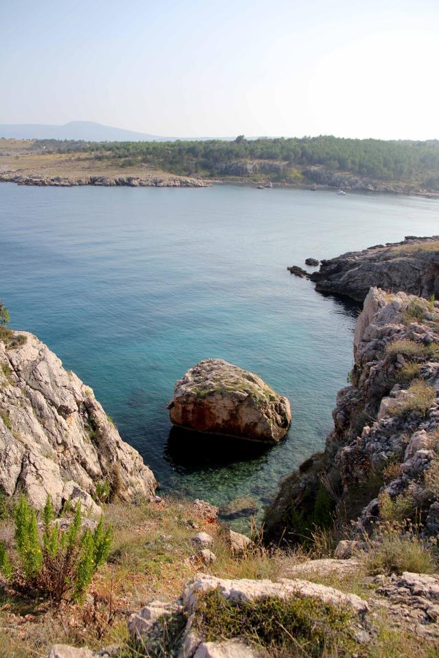 Pogled sa klifova, gdje su ostaci bizantinske utvrde